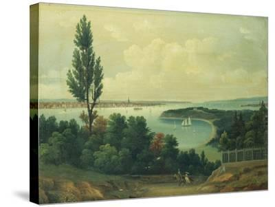 View of New York from New Jersey-John Bachman-Stretched Canvas Print
