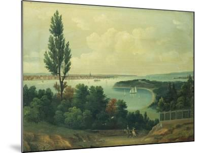 View of New York from New Jersey-John Bachman-Mounted Giclee Print