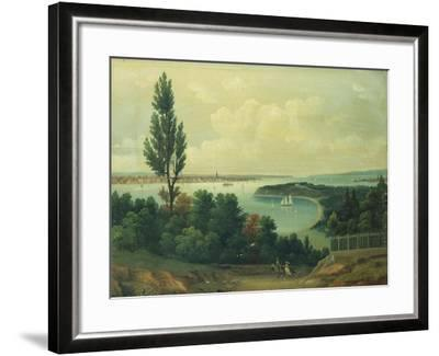 View of New York from New Jersey-John Bachman-Framed Giclee Print