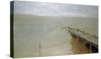 On the Sound-Thomas Jones Barker-Stretched Canvas Print