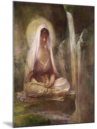 Kwannon Meditating on Human Life-William Bradford-Mounted Giclee Print