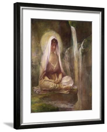 Kwannon Meditating on Human Life-William Bradford-Framed Giclee Print