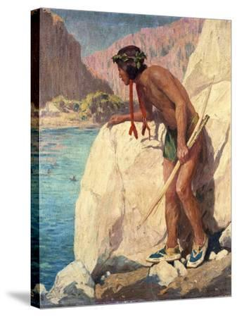The Hunter-Eanger Irving Couse-Stretched Canvas Print