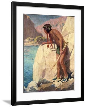 The Hunter-Eanger Irving Couse-Framed Giclee Print