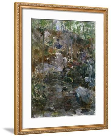 Woodland Stream-Eug?ne Boudin-Framed Giclee Print