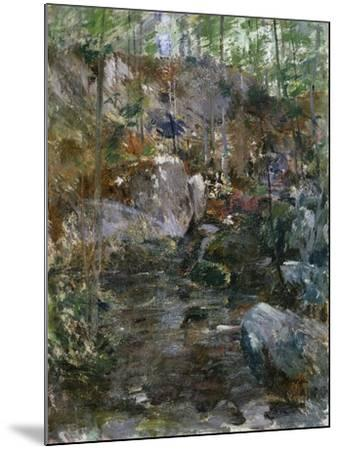 Woodland Stream-Eug?ne Boudin-Mounted Giclee Print