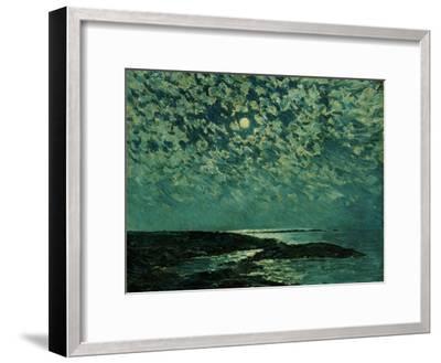 Moonlight, Isle of Shoals, 1892-Childe Hassam-Framed Giclee Print