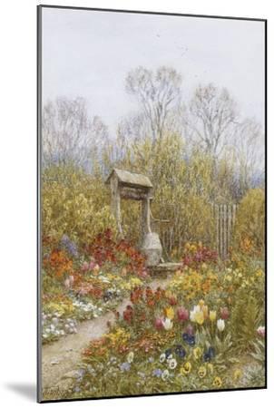An Old Well, Brook, Surrey-Helen Allingham-Mounted Premium Giclee Print