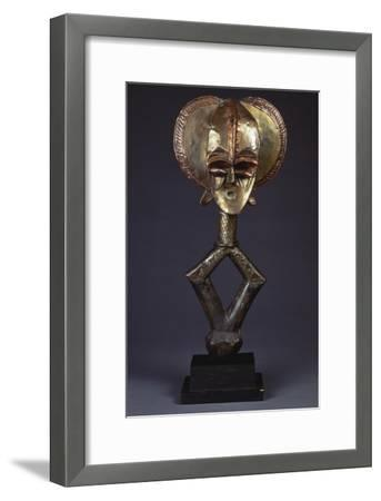 A Kota Brass-Covered Reliquary Figure--Framed Giclee Print