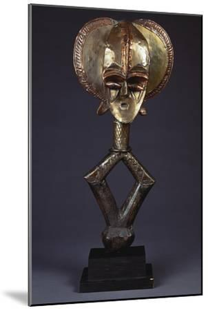 A Kota Brass-Covered Reliquary Figure--Mounted Giclee Print