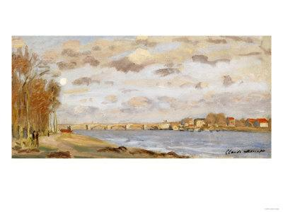 The Seine at Argenteuil, 1872-Claude Monet-Framed Giclee Print