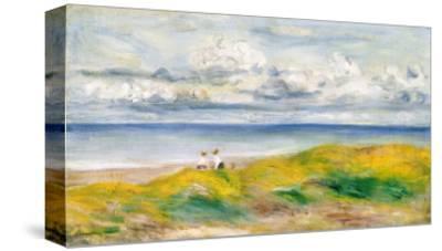 On the Cliffs, 1880-Pierre-Auguste Renoir-Stretched Canvas Print