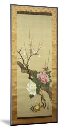 Autumn Flowers-Okada Beisanjin-Mounted Giclee Print