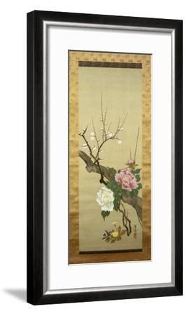 Autumn Flowers-Okada Beisanjin-Framed Giclee Print