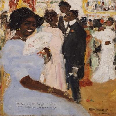 Negro Ball, 1912-Jose Agustin Arrieta-Stretched Canvas Print