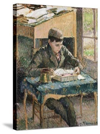 Portrait of Rodo Reading, 1903-Eug?ne Boudin-Stretched Canvas Print