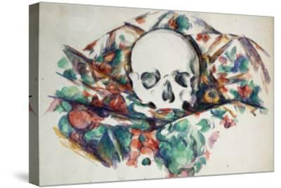 Skull on a Curtain, Circa 1902-1906-Joseph Bail-Stretched Canvas Print