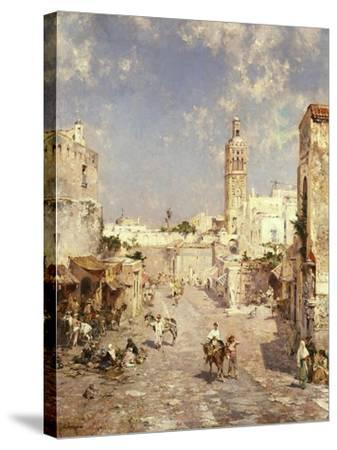 Figures in a Moorish Town-Jean-Baptiste-Camille Corot-Stretched Canvas Print