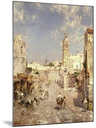 Figures in a Moorish Town-Jean-Baptiste-Camille Corot-Mounted Giclee Print