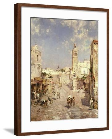 Figures in a Moorish Town-Jean-Baptiste-Camille Corot-Framed Giclee Print