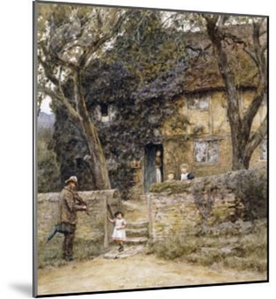 The Fiddler-Helen Allingham-Mounted Giclee Print