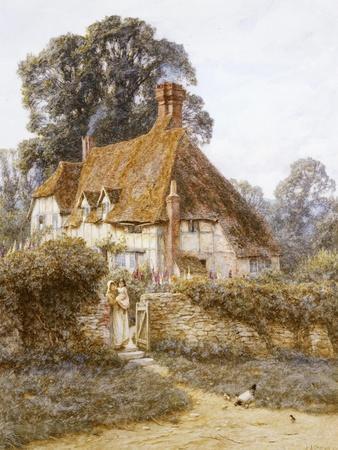 Near Witley, Surrey-Helen Allingham-Stretched Canvas Print