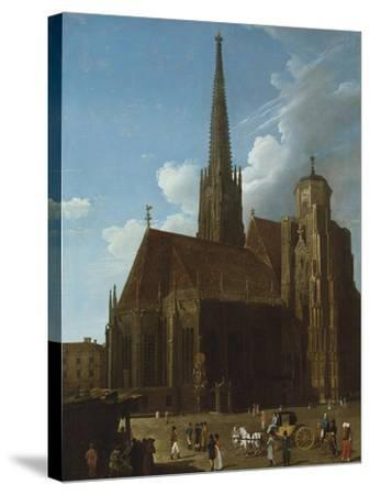 View of St. Stephens Cathedral, Vienna-Eug?ne Boudin-Stretched Canvas Print