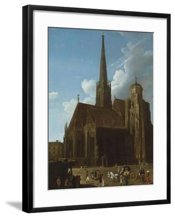View of St. Stephens Cathedral, Vienna-Eug?ne Boudin-Framed Giclee Print