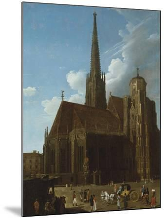 View of St. Stephens Cathedral, Vienna-Eug?ne Boudin-Mounted Giclee Print