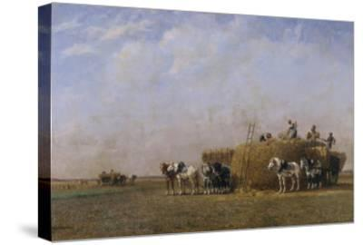 Loading the Hay Carts-Sir William Beechey-Stretched Canvas Print