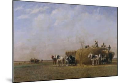 Loading the Hay Carts-Sir William Beechey-Mounted Giclee Print