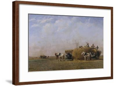 Loading the Hay Carts-Sir William Beechey-Framed Giclee Print