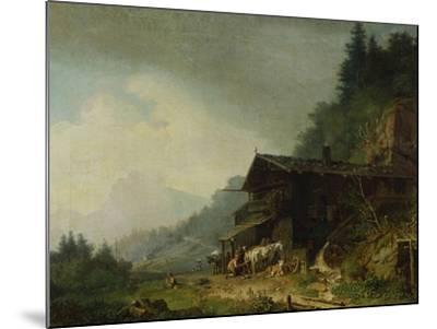 A Forge in the Bavarian Alps-Sir William Beechey-Mounted Giclee Print