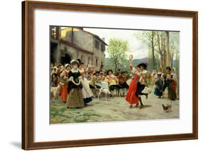 Silks and Satins at the Wedding Dance-Carl Frederic Aagaard-Framed Giclee Print