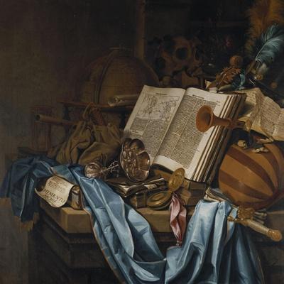 A Vanitas, 1656-Jean B?raud-Stretched Canvas Print