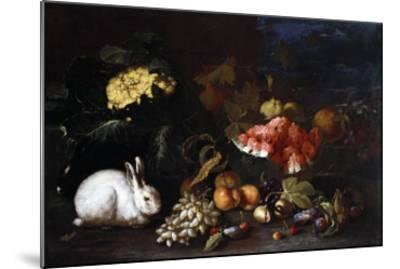 Vegetables and Fruit with Rabbits in a Landscape-George Wesley Bellows-Mounted Giclee Print