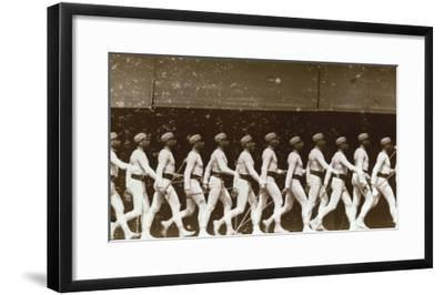 Chromophotograph of a Walking Soldier, 1886-Edward S^ Curtis-Framed Giclee Print