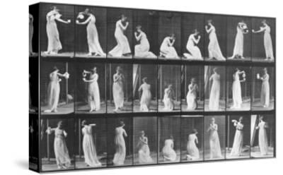 Human Locomotion: Females, 1887-Edward S^ Curtis-Stretched Canvas Print