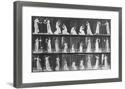 Human Locomotion: Females, 1887-Edward S^ Curtis-Framed Giclee Print