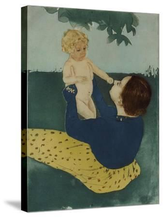 Under the Horse Chestnut Tree, 1896-7-Mary Cassatt-Stretched Canvas Print