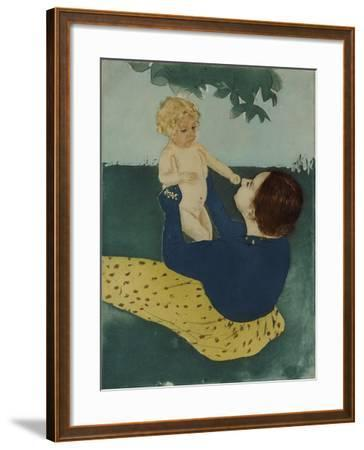 Under the Horse Chestnut Tree, 1896-7-Mary Cassatt-Framed Giclee Print