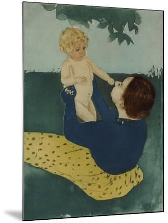 Under the Horse Chestnut Tree, 1896-7-Mary Cassatt-Mounted Giclee Print