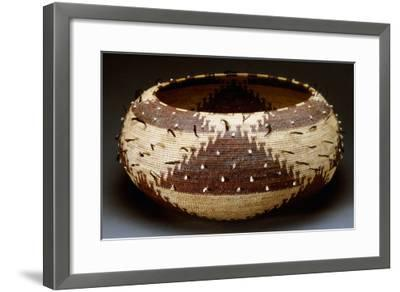 A Fine and Large Pomo Gift Basket of Willow--Framed Giclee Print