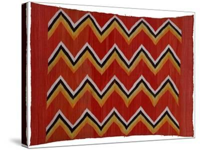 A Navajo Transitional Wedgeweave Blanket--Stretched Canvas Print