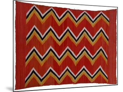 A Navajo Transitional Wedgeweave Blanket--Mounted Giclee Print