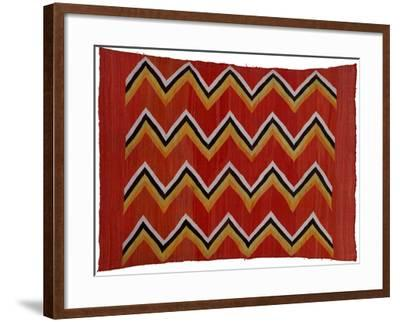 A Navajo Transitional Wedgeweave Blanket--Framed Giclee Print