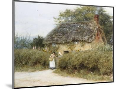 A Thatched Cottage Near Peaslake, Surrey-Helen Allingham-Mounted Premium Giclee Print