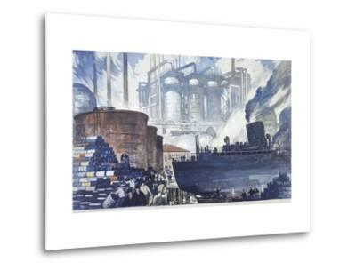 Refinery Turns Petroleum Into Gas for the War-Thornton Oakley-Metal Print