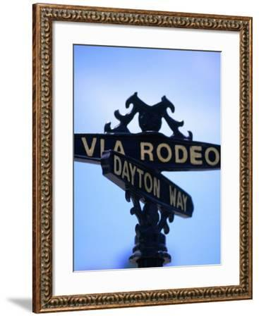 Rodeo Drive and Dayton Way in Beverly Hills, Los Angeles, California-Ray Laskowitz-Framed Photographic Print