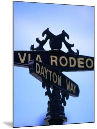 Rodeo Drive and Dayton Way in Beverly Hills, Los Angeles, California-Ray Laskowitz-Mounted Photographic Print